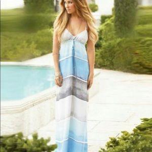 LC Lauren Conrad Watercolor Oceanside Maxi Dress